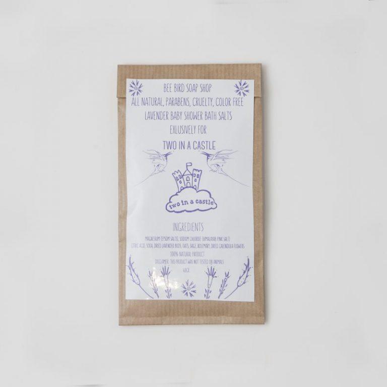 Lavender Baby Shower Bath Salts 40gr