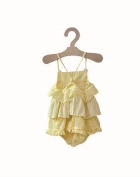 ROMPER DYED RUFFLE