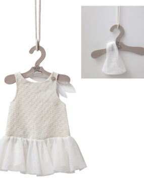 CHILD SIZE ECRU DRESS
