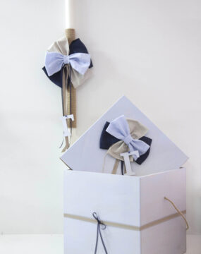 "Set of Candle & Box ""Bow ties"""