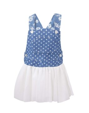 TC TRIXY POLKA DOTS DENIM DRESS MN